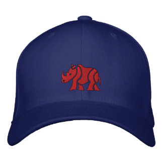Red Rhino Embroidered Hats