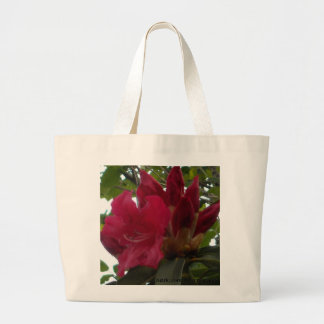 Red Rhododendron Flower and Buds Tote Bags
