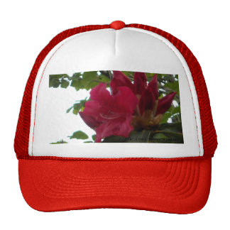 Red Rhododendron Flower and Buds Trucker Hat