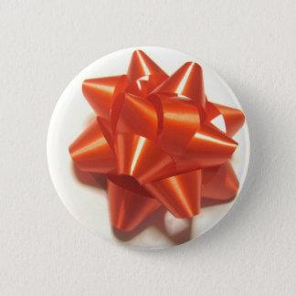 Red Ribbon 6 Cm Round Badge