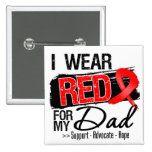 Red Ribbon Awareness - Dad Buttons
