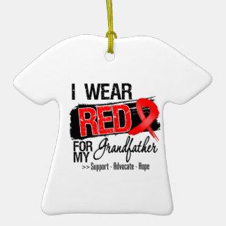 Red Ribbon Awareness - Grandfather Ornament