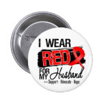 Red Ribbon Awareness - Husband Buttons