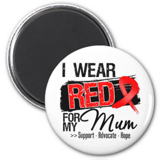 Red Ribbon Awareness - Mum Fridge Magnets