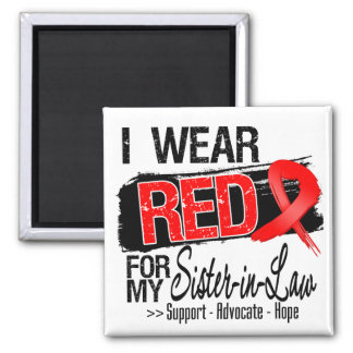 Red Ribbon Awareness - Sister-in-Law Magnets