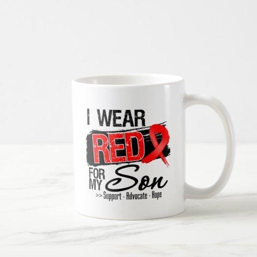 Red Ribbon Awareness - Son Coffee Mug
