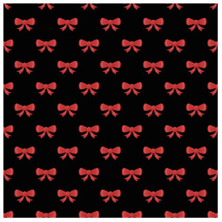 Red Ribbon Bow Pattern on Black. Photo Cut Out