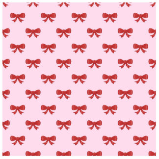 Red Ribbon Bow Pattern on Pink. Acrylic Cut Outs