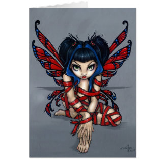 """Red Ribbon Fairy"" Greeting Card"