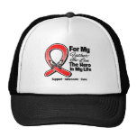 Red Ribbon For My Hero My Father-in-Law Trucker Hat