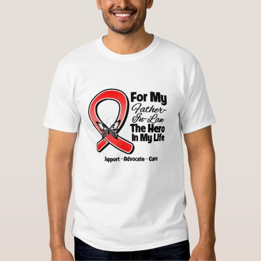 Red Ribbon For My Hero My Father-in-Law T Shirts