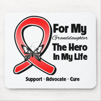 Red Ribbon For My Hero My Granddaughter Mouse Pad