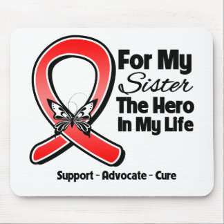 Red Ribbon For My Hero My Sister Mouse Pad