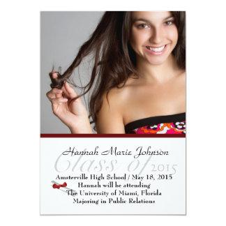 Red Ribbon Graduate Photo Announcement