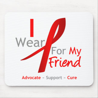 Red Ribbon I Wear Red For My Friend Mouse Pad