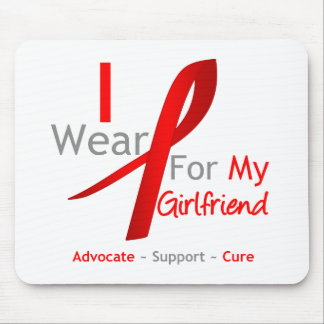 Red Ribbon I Wear Red For My Girlfriend Mouse Pad