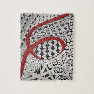 RED RIBBON LETTERING ARTISTRY JIGSAW PUZZLE
