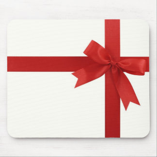 Red Ribbon Mouse Pad