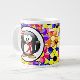Red Ribbon Penguin Jumbo Mug