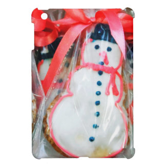 Red Ribbon Snowman Case For The iPad Mini