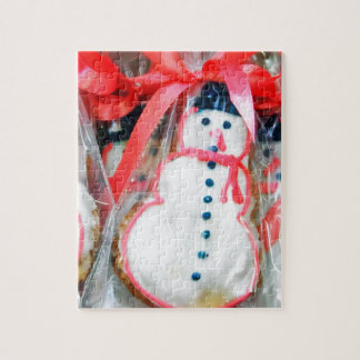 Red Ribbon Snowman Jigsaw Puzzle