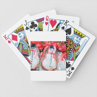 Red Ribbon Snowman Poker Deck