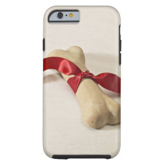 Red Ribbon Tied to Dog Treat Tough iPhone 6 Case