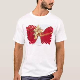 Red Ribbon with Gold Angel, Close Up, T-Shirt