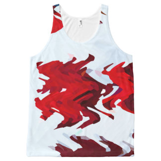Red Ribbons All-Over Print Tank Top