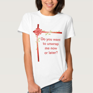 Red Ribbons and Green Vines T-shirts