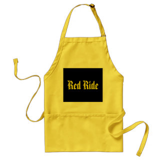 Red ride standard apron