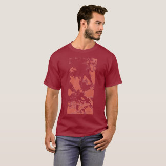 "Red ""Rider"" Stamped Shirt"