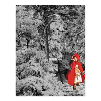 Red Riding Hood and the Wolf Postcard