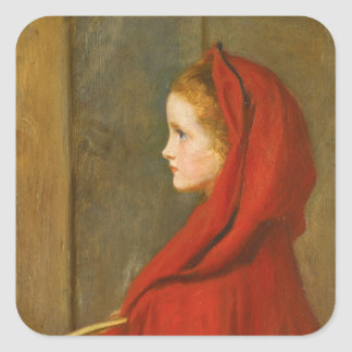 Red Riding Hood by Millais Square Sticker
