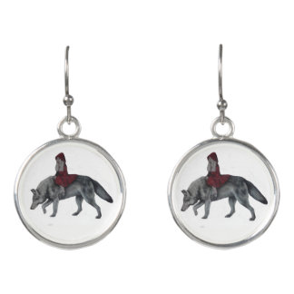 Red Riding Hood Earrings