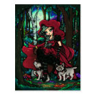 Red Riding Hood Fairytale Art Postcard