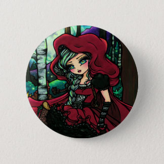 Red Riding Hood Fairytale Fairy Fantasy 6 Cm Round Badge