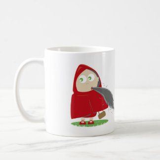 Red riding hood has appetite. coffee mug