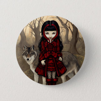 """Red Riding Hood in Autumn"" Button"