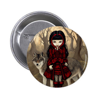Red Riding Hood in Autumn Button
