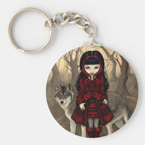 """Red Riding Hood in Autumn"" Keychain"