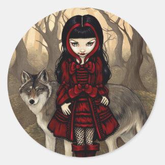"""Red Riding Hood in Autumn"" Sticker"