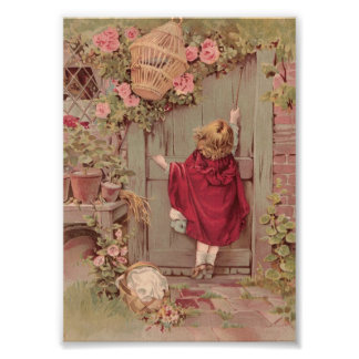 Red Riding Hood Knocks on the Door Photo