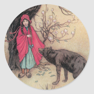 Red Riding Hood Round Stickers
