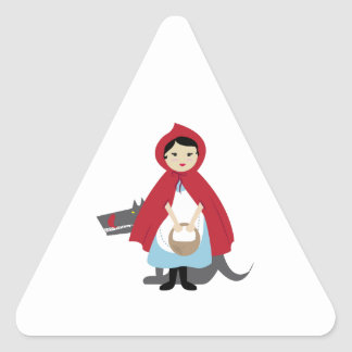 Red Riding Hood Triangle Stickers