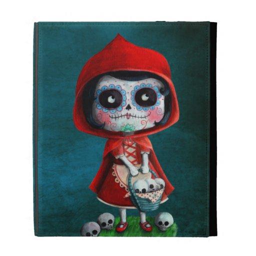 Red Riding Hood Sugar Skull iPad Cases