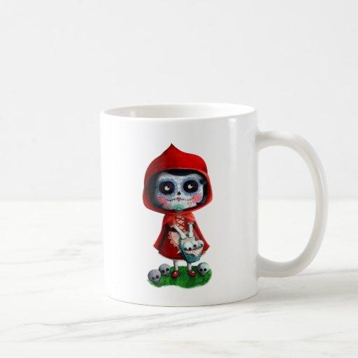 Red Riding Hood Sugar Skull Coffee Mug