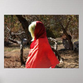 Red Riding Hood Wolves Digital Art horror Poster