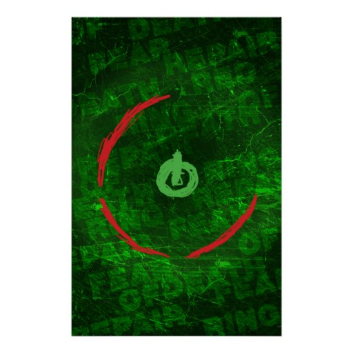 Red Ring Of Death Poster - Gamer Video Games Geek