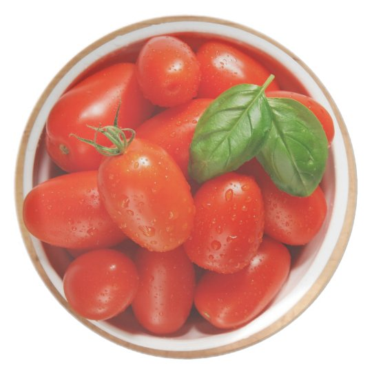 Red Ripe Tomatoes Plate